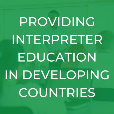 Interpreter Training Developing Countries